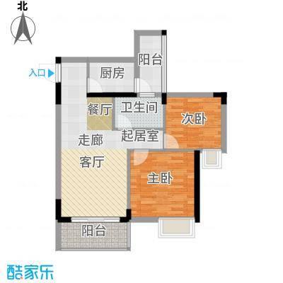 友田碧云轩73.00㎡6栋2~8层01户型2室2厅1卫