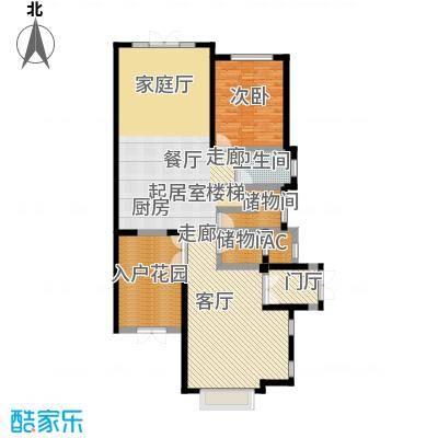 滨海湖128.00㎡滨海湖双拼D一层户型图2室2厅1卫1厨128.00平米户型2室2厅1卫