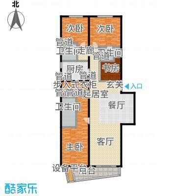 华远九都汇238.42㎡华远九都汇户型图S3-D1四室两厅三卫(2/2张)户型4室2厅3卫