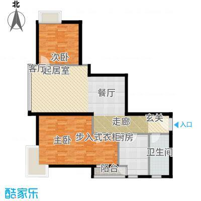 荟锦80.00㎡2-13层0514-17层03户型2室1卫1厨
