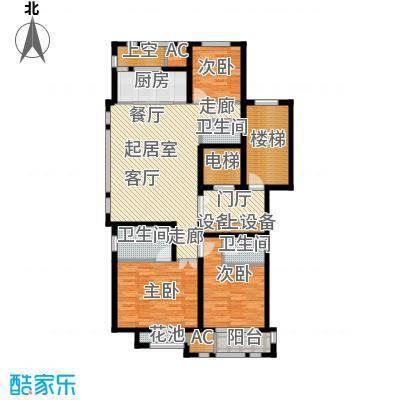 华润置地橡树湾140.00㎡LUX公寓户型3室2厅2卫QQ