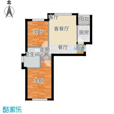 知润山62.00㎡C户型,稀缺精致两室,62平米,18#19#20#21#22#25#26#27#户型2室1厅1卫