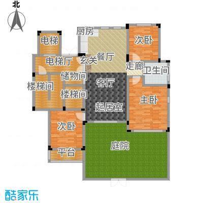 阳光地中海117.68㎡电梯洋房A地上一层3室2厅1卫117.68㎡户型