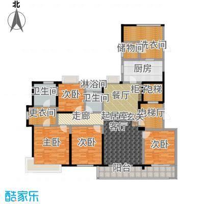 九龙仓玺园189.00㎡大平层4+1房户型5室2厅2卫