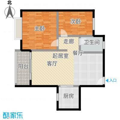 星云轩81.09㎡E栋标准层01户型2室1卫1厨