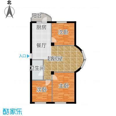 香洲心城三期117.00㎡21、22#C户型3室2厅1卫1厨 117.00㎡户型3室2厅1卫