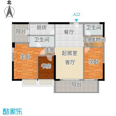 力迅T126.61㎡B栋02面积12661m2户型3室2卫1厨
