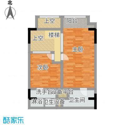 漕湖之星60.00㎡漕湖之星户型图5#地中海户型2F(2/3张)户型1室1厅1卫
