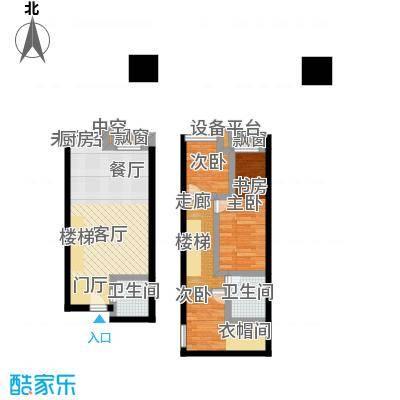 南国大武汉SOHO60.00㎡V座LOFT A1户型3室2厅2卫