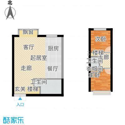 青云景苑52.00㎡2#户型2室2厅2卫