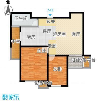 新创理想城85.72㎡新创理想城户型图A3户型(1/5张)户型10室