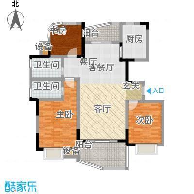 天翼御品天翼御品户型图E户型三房两厅两卫(8/9张)户型10室