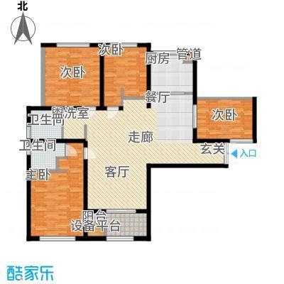 润泽东都132.00㎡润泽东都户型图A户型132平米(3/10张)户型3室2厅2卫