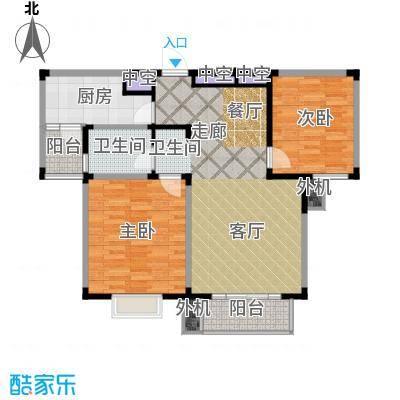 星胜客84.00㎡星胜客户型图二房二厅一卫-85平米(8/9张)户型10室