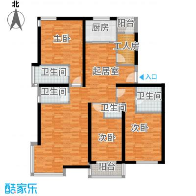 中国铁建绿港154.18㎡A户型10室