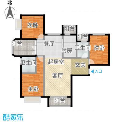 北京城建・世华泊郡130.00㎡6号楼B3户型3室2卫1厨