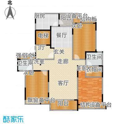 瀛通金鳌山公寓146.00㎡3室2厅2卫146.00㎡户型3室2厅2卫