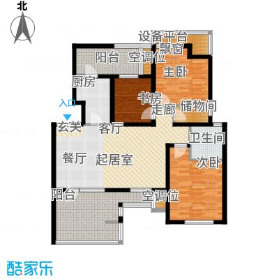 景瑞阳光尚城98.00㎡三室两厅一卫户型3室2厅1卫