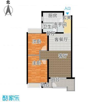 绿地白金汉宫97.89㎡A1、A2、A3、A4、A5、A6楼A1户型两房两厅一卫97.89平米户型2室2厅1卫