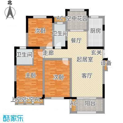 荣尚花苑120.00㎡F户型3室2厅1卫QQ