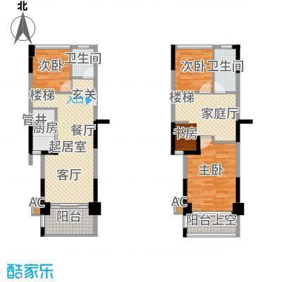 东方银座公馆A复式银座逸家建议装修平面图户型3室2卫1厨