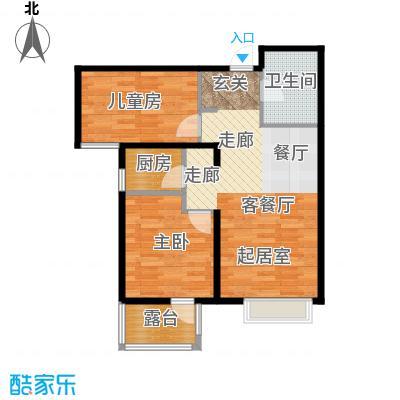 金隅・观澜时代87.00㎡G6\'户型2室2厅1卫