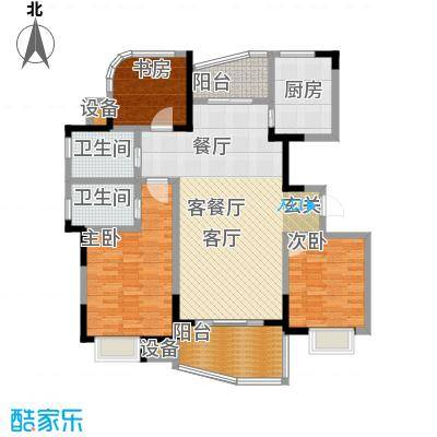 天翼御品128.00㎡天翼御品户型图天翼御品E户型3室2厅2卫(1/6张)户型3室2厅2卫