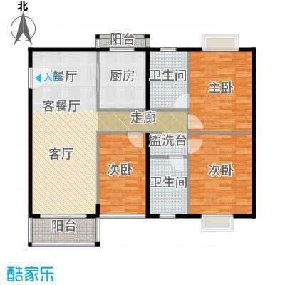 世纪新潮豪园111.42㎡标准层D户型3室1厅2卫1厨