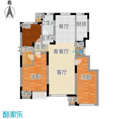 东丽湖万科城鹭湖125.00㎡三室两厅两卫户型3室2厅2卫