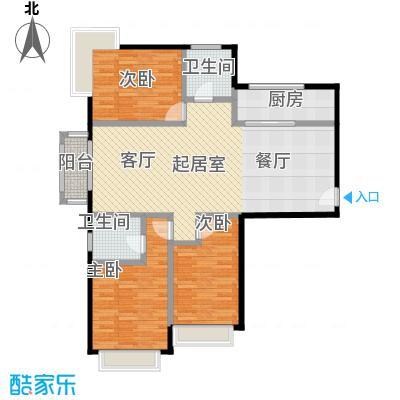 北京城建・世华泊郡129.00㎡12号楼G2户型3室2卫1厨