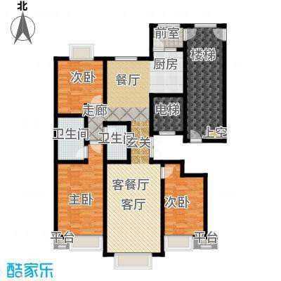 荣斌公园壹号148.50㎡D户型3室2厅2卫