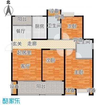 悦府・保利海德公馆三期135.00㎡两室两厅二卫户型2室2厅2卫