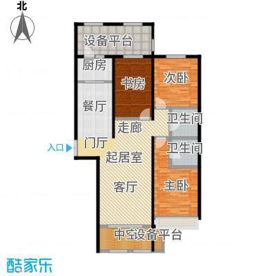 鼎旺大观136.32㎡A5\'户型3室2厅2卫户型3室2厅2卫