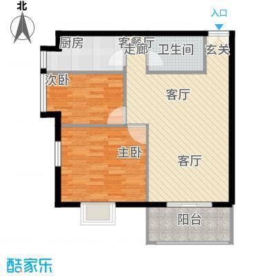 戛纳35号V2户型2室1厅1卫1厨