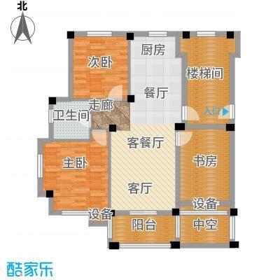远洲国际城96.09㎡三室两厅一卫户型