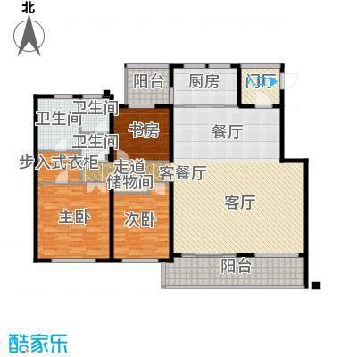 协信阿卡迪亚165.75㎡18-23#洋房D7户型2室2厅1卫