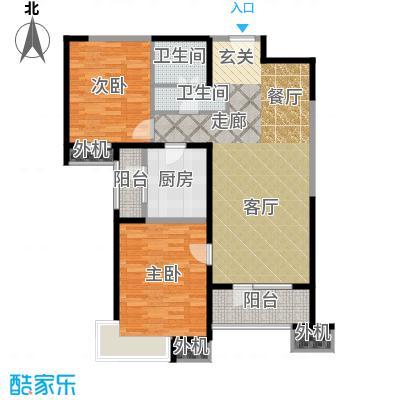 天津湾海景文苑115.00㎡B2户型2室2厅1卫