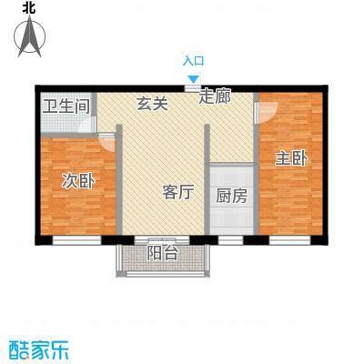 恒盛家园97.59㎡恒盛家园户型图(2/19张)户型2室1厅