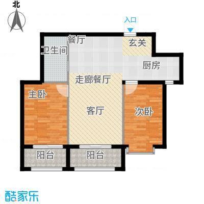 金科清都记忆89.51㎡N户型两室两厅89.51平米户型图户型2室2厅1卫