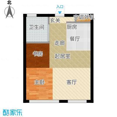 海派优座37.00㎡一房二厅一卫户型