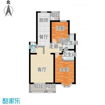 大宁山庄108.80㎡大宁山庄户型图二期A反丁区两室两厅两卫(3/8张)户型10室