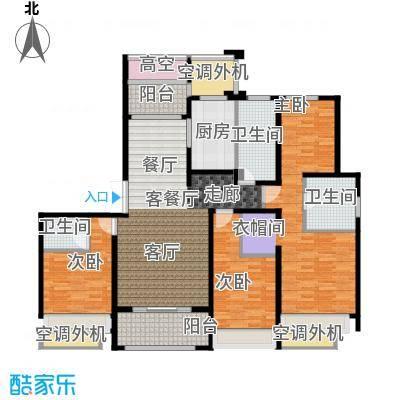 绿地白金汉宫160.00㎡C4#楼户型160平米户型4室2厅3卫