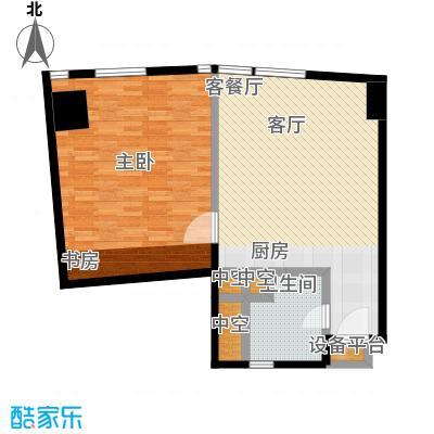 深圳湾85.00㎡D户型图一室二厅一卫户型1室2厅1卫