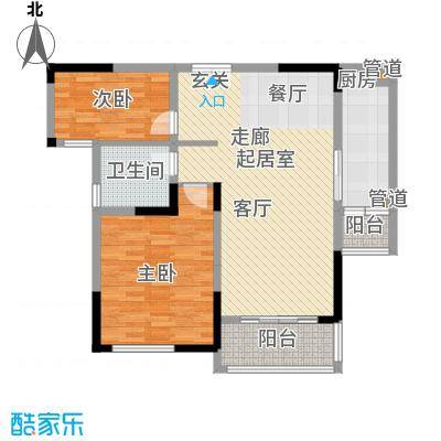 天安尚城天安尚城户型图B户型两房93平米(11/12张)户型10室