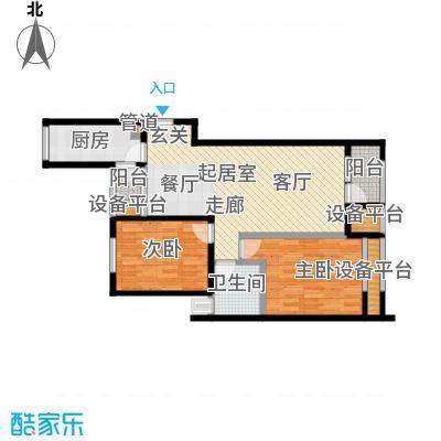 8哩岛89.00㎡8哩岛户型图L户型两室两厅一卫(6/8张)户型10室