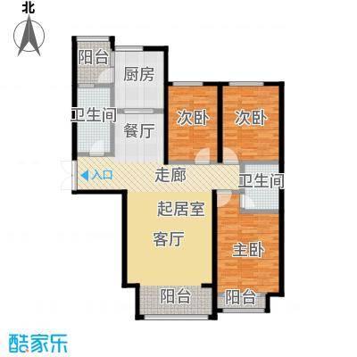 博雅园132.43㎡5#楼住宅户型3室2卫1厨