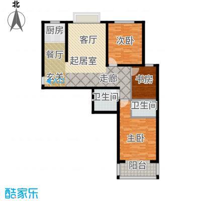 奇源尚层133.06㎡户型2户型3室2厅2卫