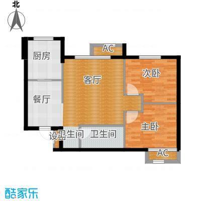 锦绣燕居84.39㎡A户型 二室二厅一卫户型2室2厅1卫