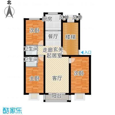 溪峰尚居111.00㎡H户型3室2厅2卫
