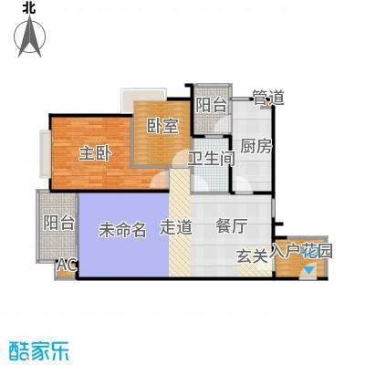 南城都汇御天下90.00㎡2011年3期汇馨园8、9栋2-17层04号户型-90平米-两室两厅一卫户型2室2厅1卫